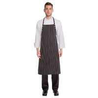 Black Chalkstripe Adjustable Chefs Apron