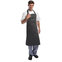 Whites Butchers Stripe Apron Black