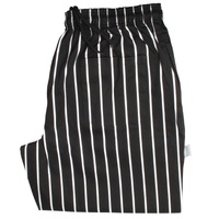 Easy Fit Pants Black Butchers Stripe