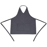 Whites V Neck Service Apron Charcoal