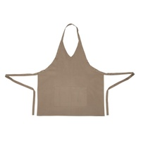 Whites V Neck Service Apron Tan