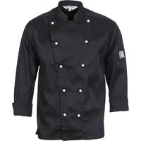 DNC Traditional Chef Jacket Long Sleeve Black