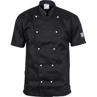 DNC Three Way Chef Jacket Short Sleeve Black