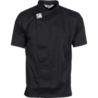 DNC Tunic Chef Jacket Short Sleeve Black