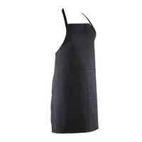 BLACK Full Bib Apron - Polyester/ Cotton NO Pocket