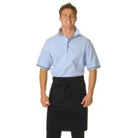 Black Poly/Cotton Half (1/2) Apron NO Pocket