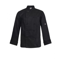 CHEF CRAFT - Executive  Lightweight Chef Jacket - Long Sleeve Black