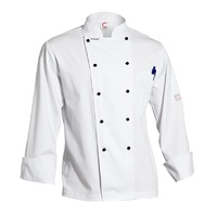 CHEF CRAFT - Executive  Lightweight Chef Jacket - Long Sleeve White