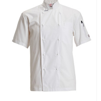 CHEF CRAFT - Executive  Lightweight Chef Jacket - Short Sleeve White