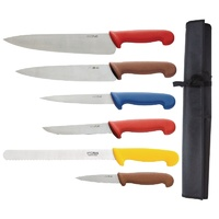Hygiplas Colour Coded Knife Set & Wallet