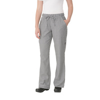 Womens Small Check Chef Pants