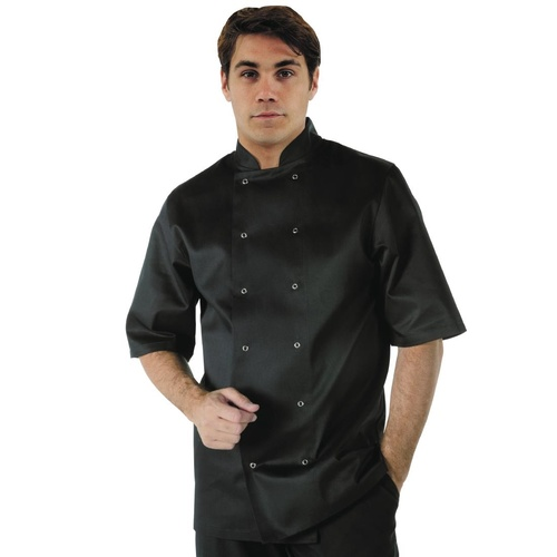 Whites Vegas Chef Jacket Short Sleeve Black