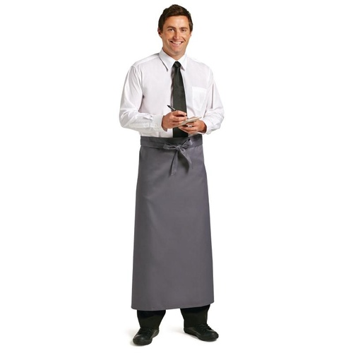 Whites Long Bistro Apron Charcoal