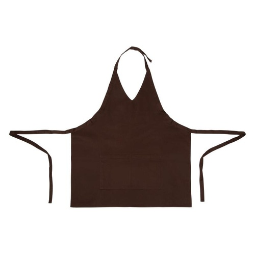 Whites V Neck Service Apron Chocolate