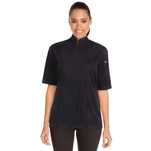 Springfield Womens Black Zipper Chef Jacket