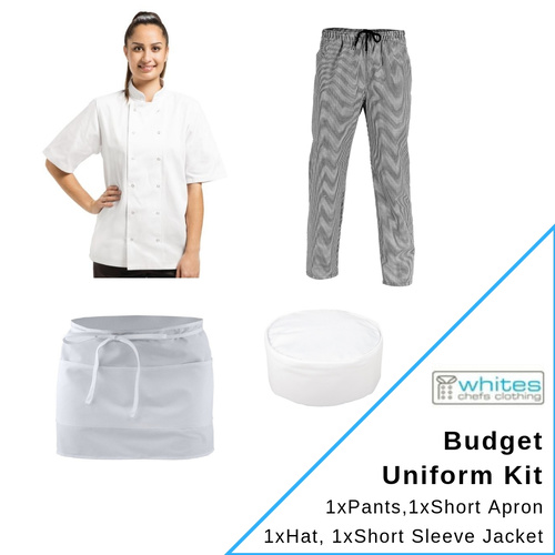 Budget Chefs Uniform Kit Short Sleeve