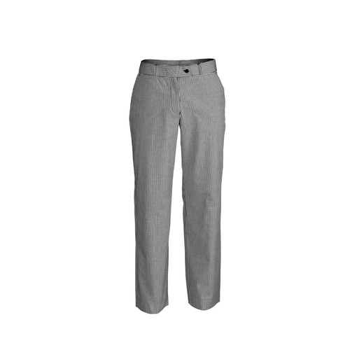 Ladies Chef Craft Flat Front Trouser - Small Check [Size: L]