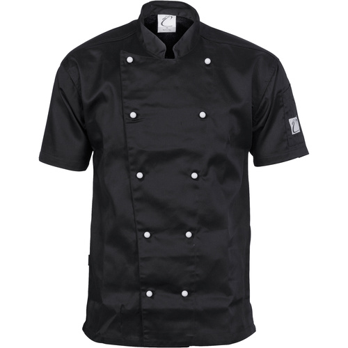 DNC Traditional Chef Jacket Short Sleeve Black
