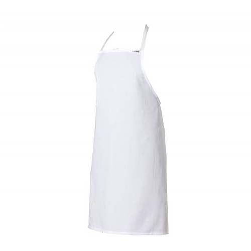 WHITE Full Bib Apron - Polyester/ Cotton With Pocket