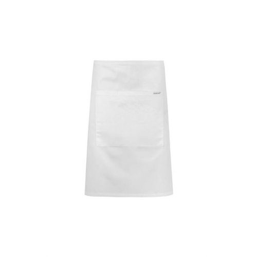 White Poly/Cotton Half (1/2) Apron With Pocket