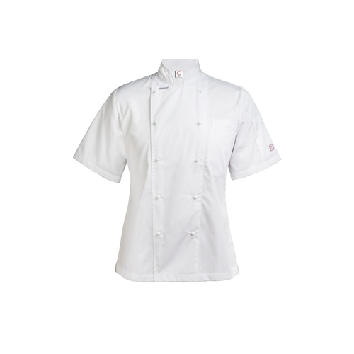 CHEF CRAFT - Ladies Executive  Lightweight Chef Jacket - Short Sleeve White