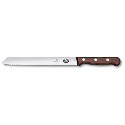 Victorinox Serrated Bread Knife 21cm Rosewood Handle