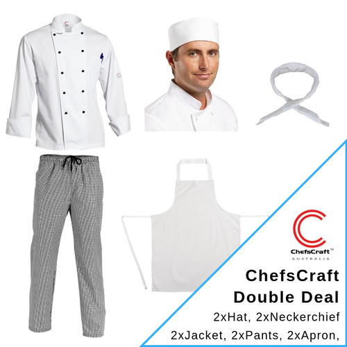 CHEF CRAFT UNIFORM KIT LONG SLEEVE