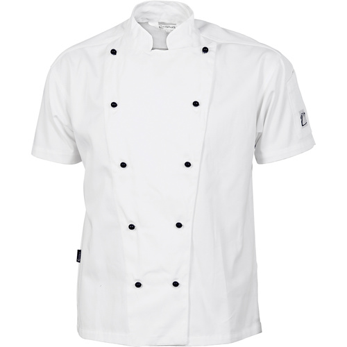 DNC Three Way Chef Jacket Short Sleeve White
