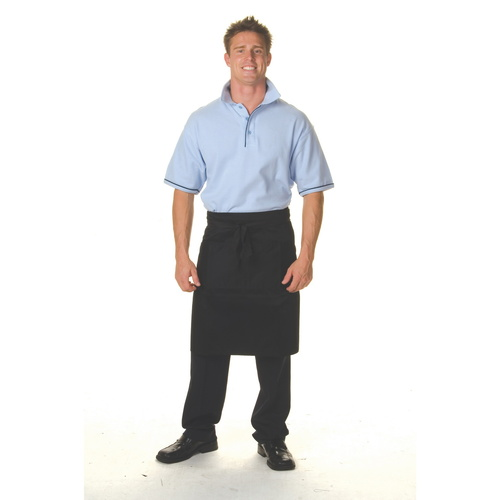 BLACK 3/4 APRON WITH POCKET
