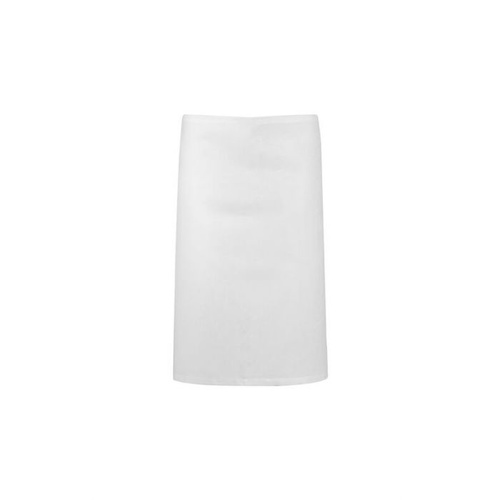White Poly/Cotton Half (1/2) Apron NO Pocket