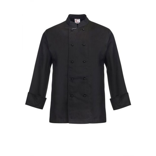 CHEF CRAFT - BLACK CLASSIC CHEF JACKET - LONG SLEEVE